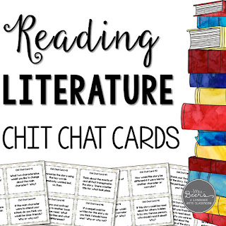 https://www.teacherspayteachers.com/Product/Reading-Literature-Chit-Chat-Cards-for-Grades-4-8-Common-Core-Aligned-1970897