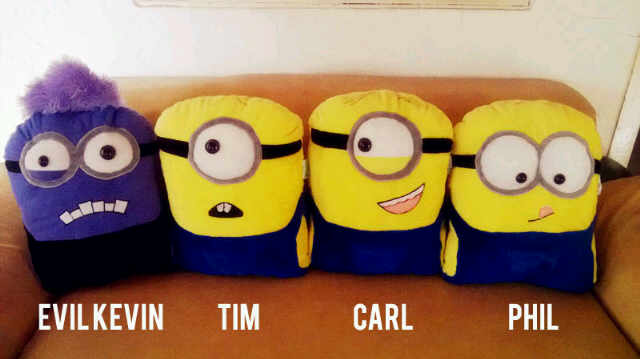 minion pillows they are super cool | Fun crafts | Pinterest
