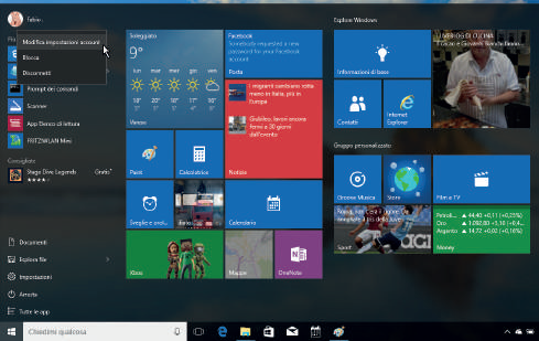 Come personalizzare account Windows 10