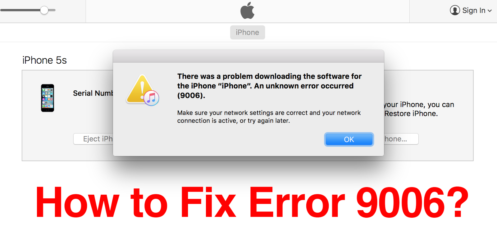 there was a problem downloading the software for the iphone how to fix itunes error 9006 when upgrade iphone 21539