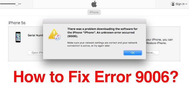 Fix Error 9006