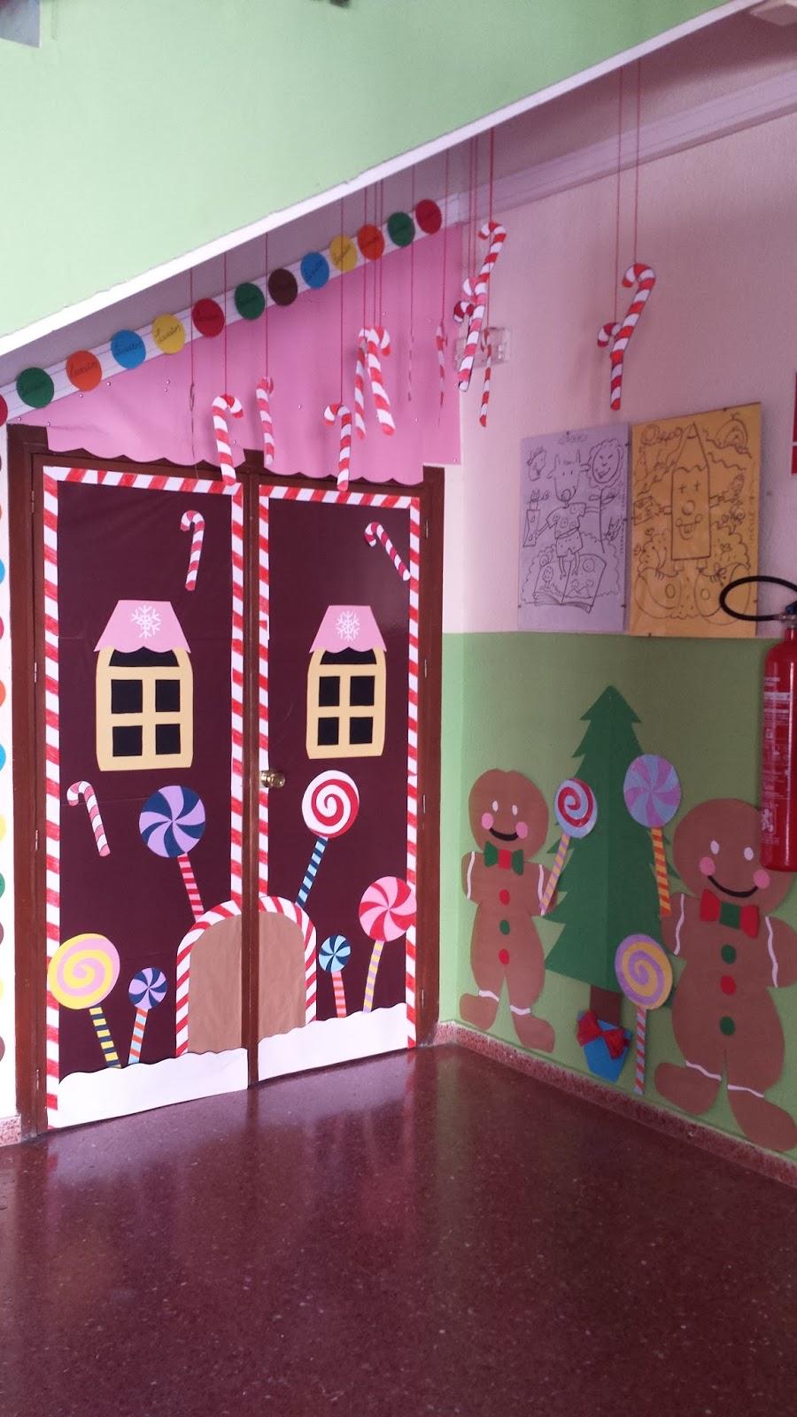 Ceip virgen del carmen decoraci n de puertas navide as en for Puertas decoradas navidad colegio
