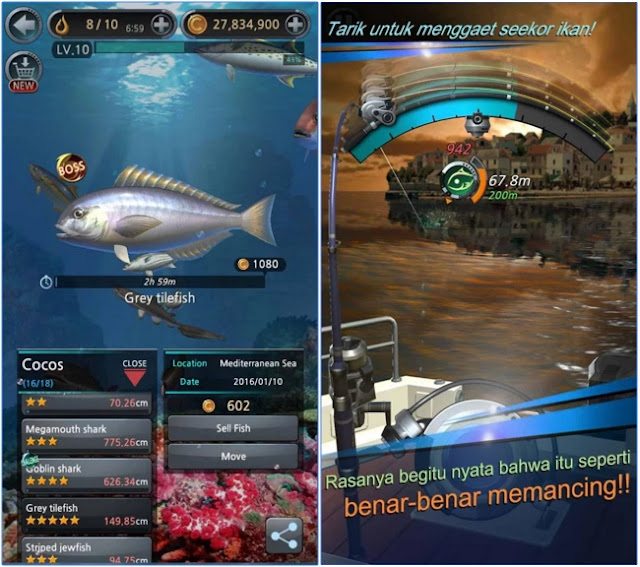 screenshoot Fishing Hook v1.2.5 Apk Mod