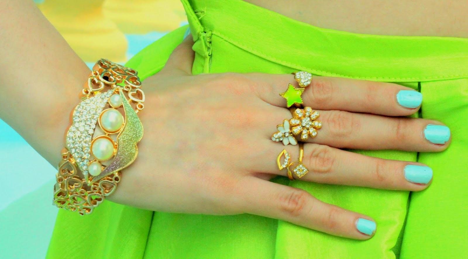 Bracelet & Charm Rings