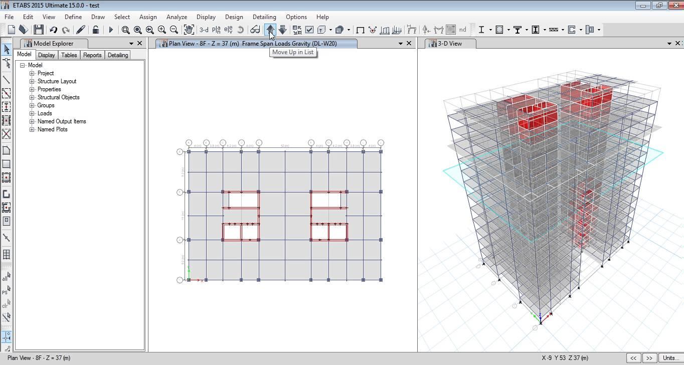 CSI ETABS 2015-PROJECT BUILDING DESIGN-02 - Cefci (E5)