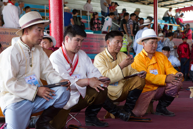 National ankle bone shooting competition, Naadam Festival, 2015