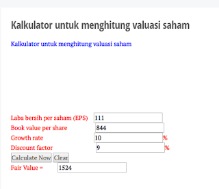 Analisa valuasi saham MAIN