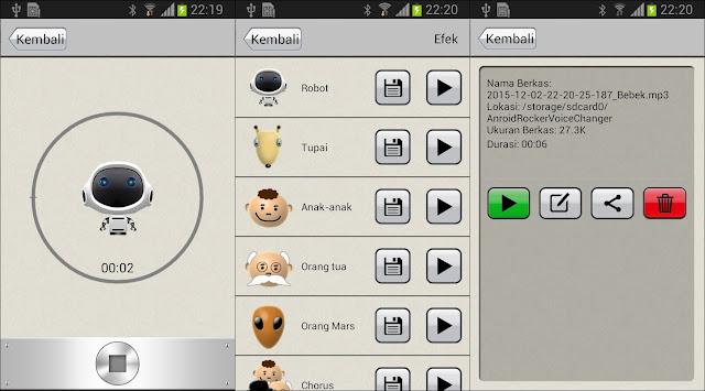 Pengubah Suara Android