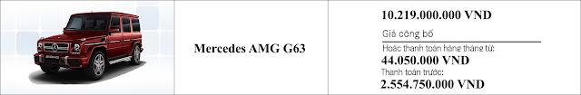 Giá xe Mercedes AMG G63 2019 tại Mercedes Trường Chinh