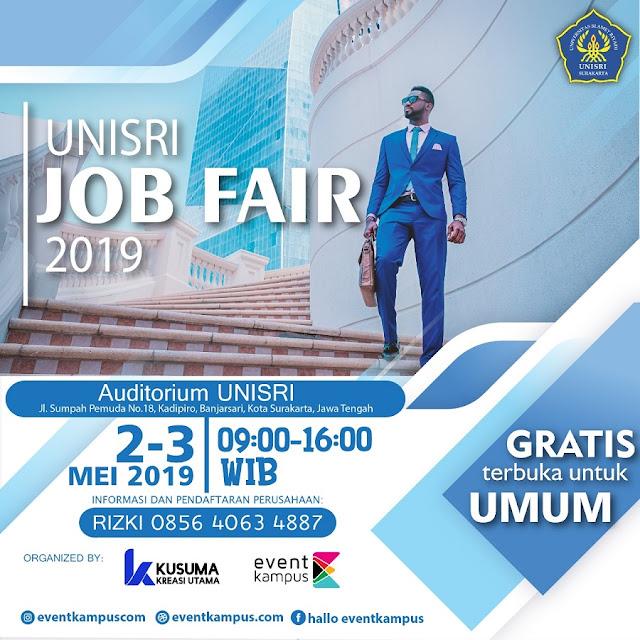 Job Fair UNISRI 2019 (Surakarta)