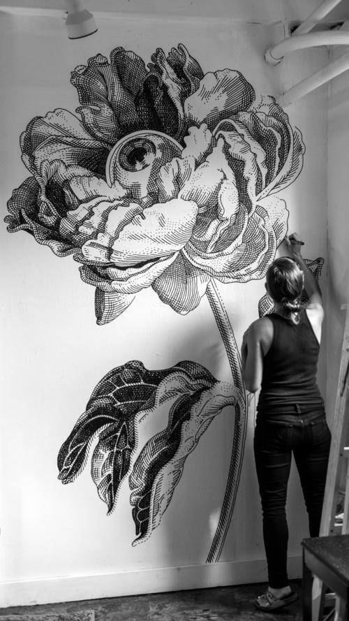 06-Peony-Olivia-Knapp-Cross-Hatch-Drawings-with-a-bit-of-Anatomy-www-designstack-co