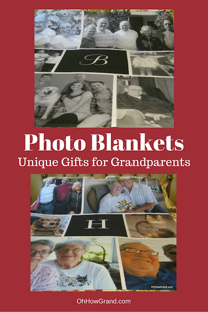 Photo blankets are unique gifts that the grandparents in our family truly love and use. Easy to customize, too!