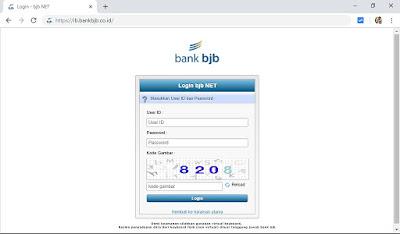 Ilustrasi internet banking BJB