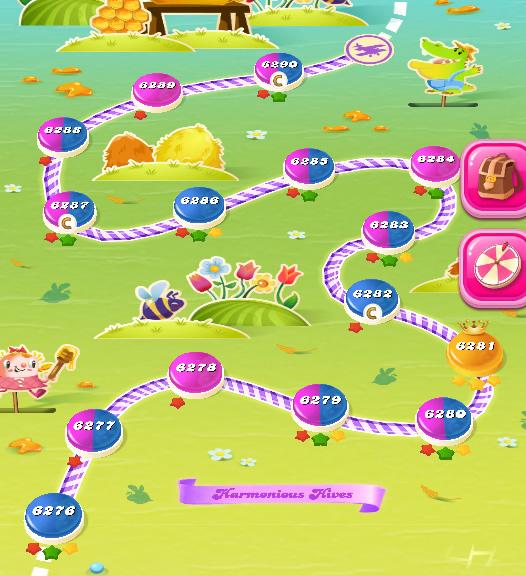 Candy Crush Saga level 6276-6290