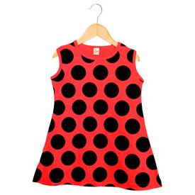 Image of Baby Lady Bug Print on a Dress