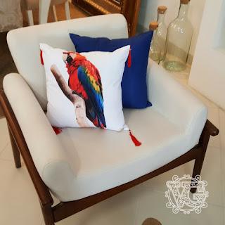 como fazer decoração da sala usando almofadas