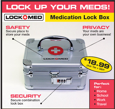 locking medication storage box