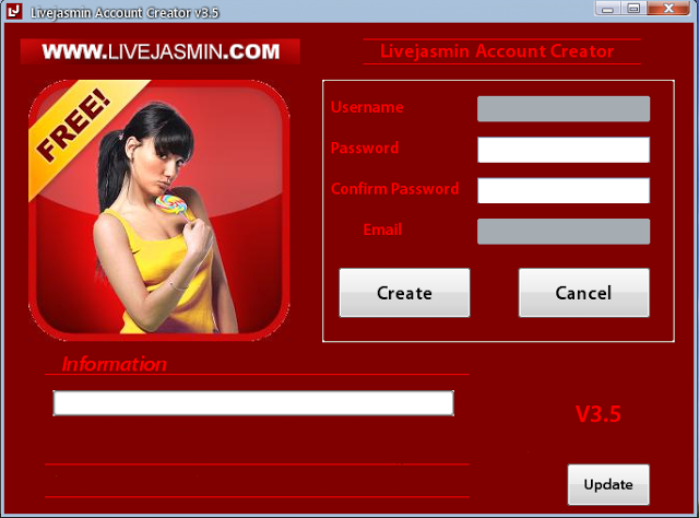 Livejasmin account with credits