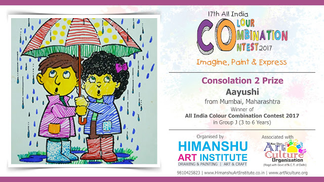 Consolation 2 Prize Winner  Aayushi  from Mumbai, Maharashtra in All India National Level Painting Competition for Kids