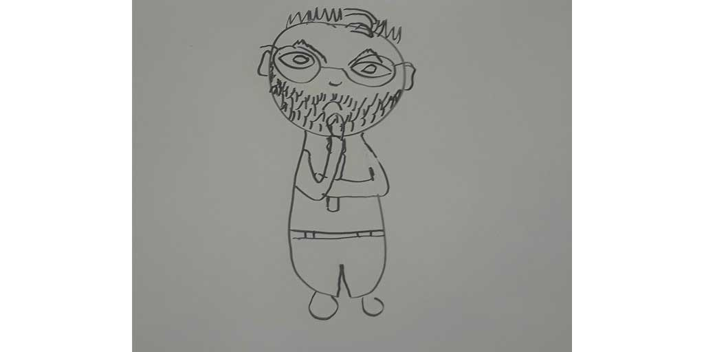My Daughter's Drawing of Me That She Set As My Twitter Pic