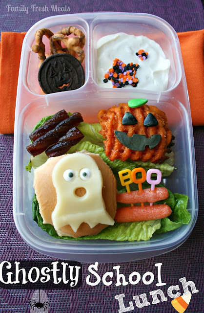 Fun Halloween school lunch ideas!