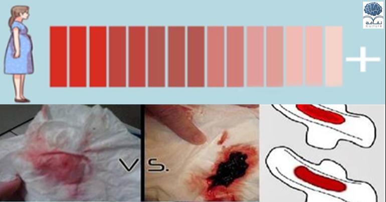عالم عاجل وخاص للسيدات فقط لون دم الدورة الشهرية وقوامه وما يشير اليه من صحتك أو مرضك