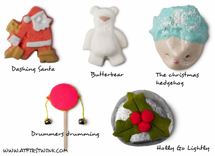 Lush Christmas 2014 collection: bath bombs and bubble bars