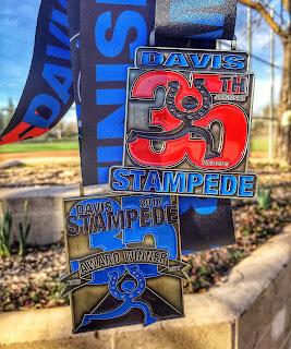 Davis Stampede 10K & AG award medals