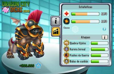 Dragão Gladiador - Informações