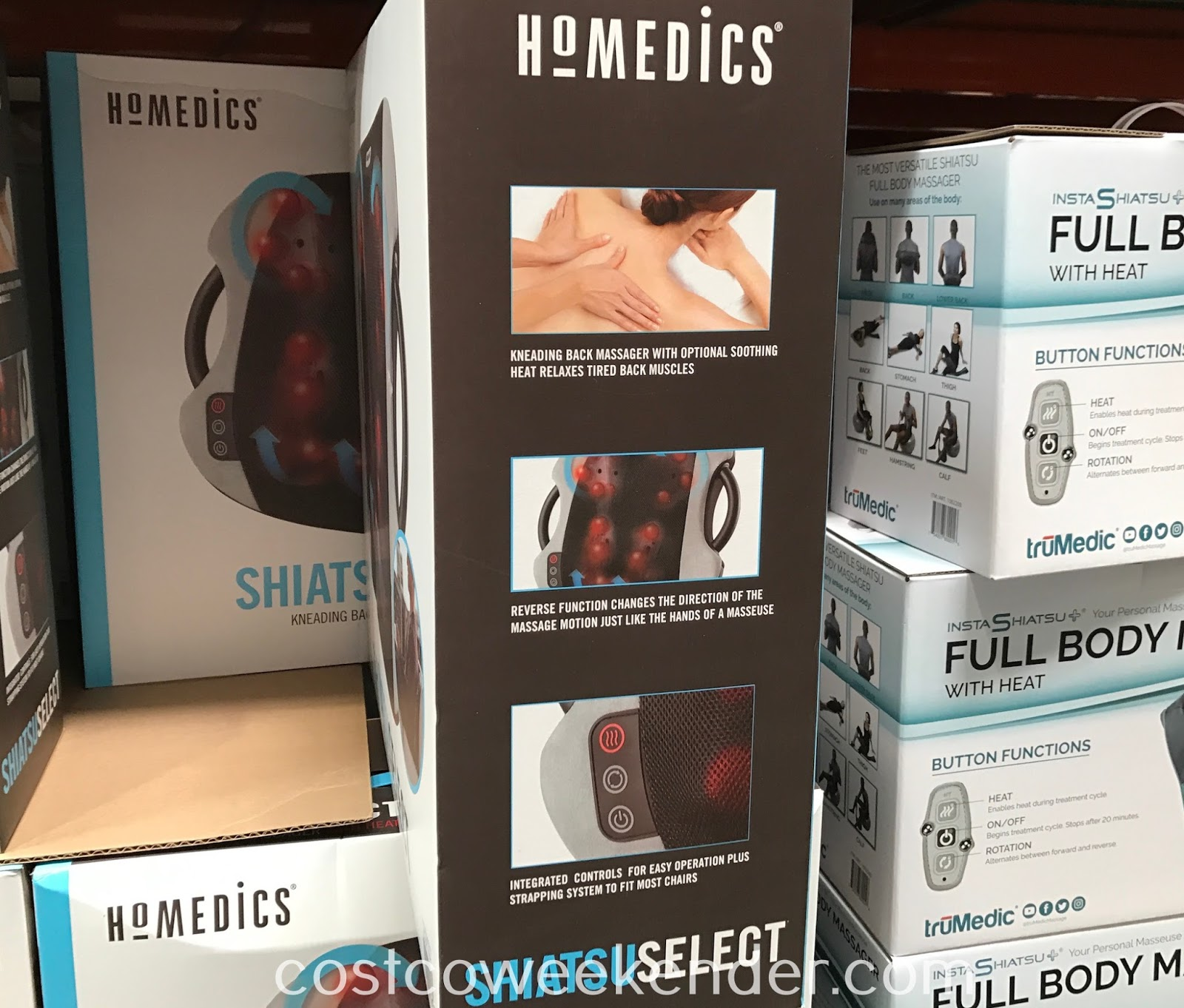 Costco 1065971 - HoMedics Shiatsu Select Kneading Back Massager: great for relaxation and achy backs