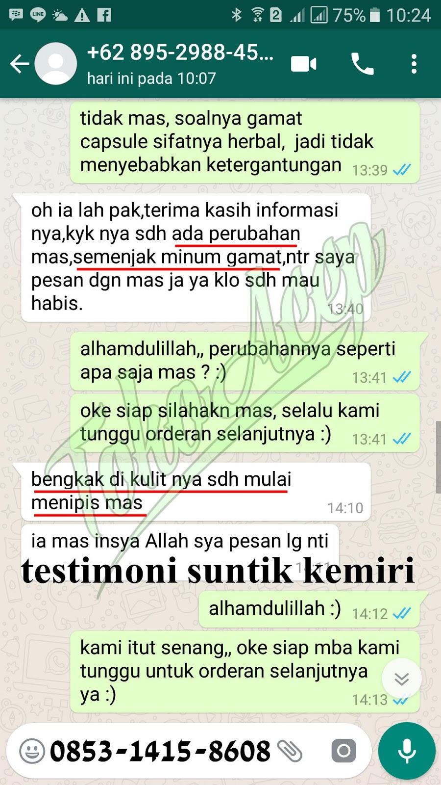Testimoni Walatra Gamat Emas Kapsul