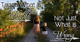 You can't just say no, you have to teach what is right.