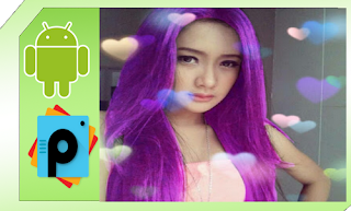 cara merubah warna rambut picsart