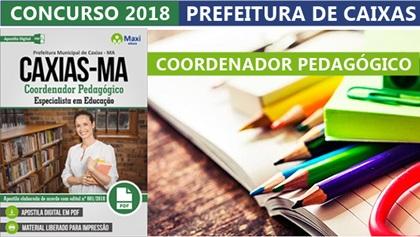 Concurso Prefeitura de Caxias 2018 - Coordenador Pedagógico