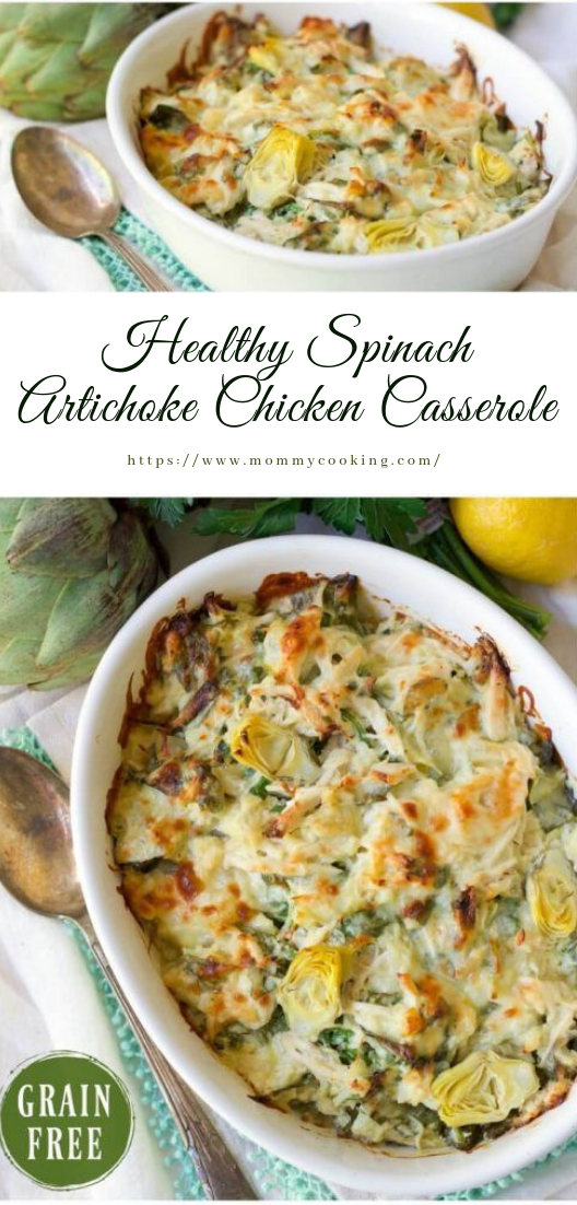 Healthy Spinach Artichoke Chicken Casserole #healthy #keto ecipe
