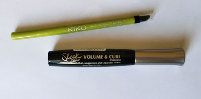Tutoriel : Un maquillage Waterproof et coloré  crayon vert kiko mascara sleek