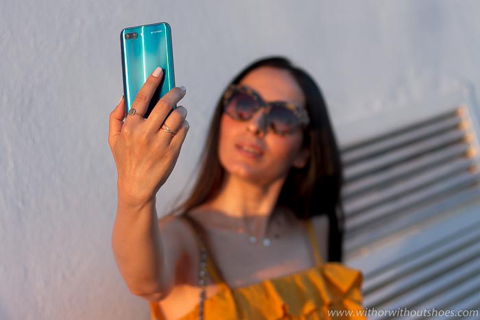 Fotografía Selfies con cámara Smartphone Honor 10