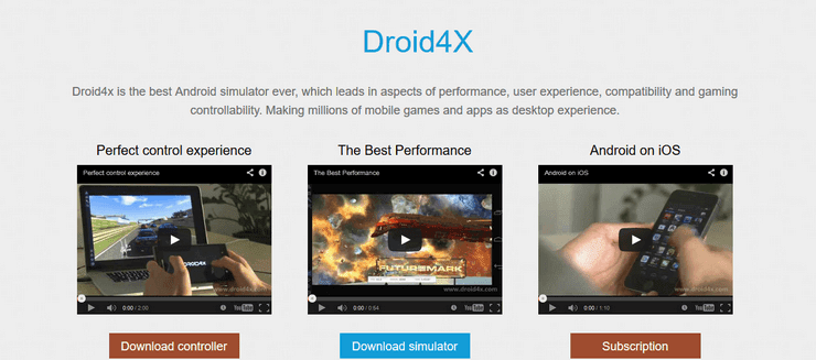 Droid4x Android simulator