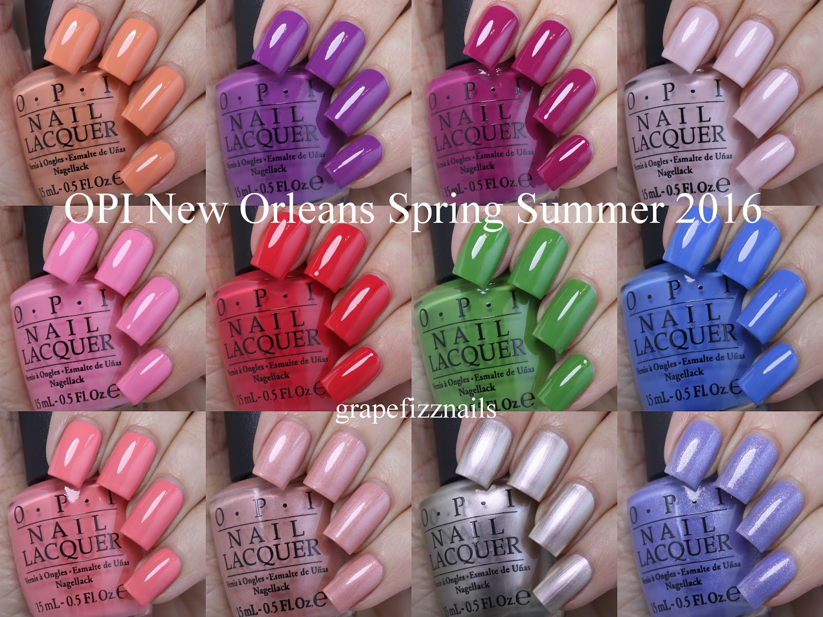 Grape Fizz Nails: OPI New Orleans Collection for Spring/Summer 2016