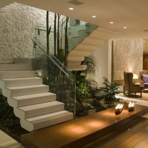 Construindo minha casa clean tipos de escadas decoradas for Escaleras en forma de u