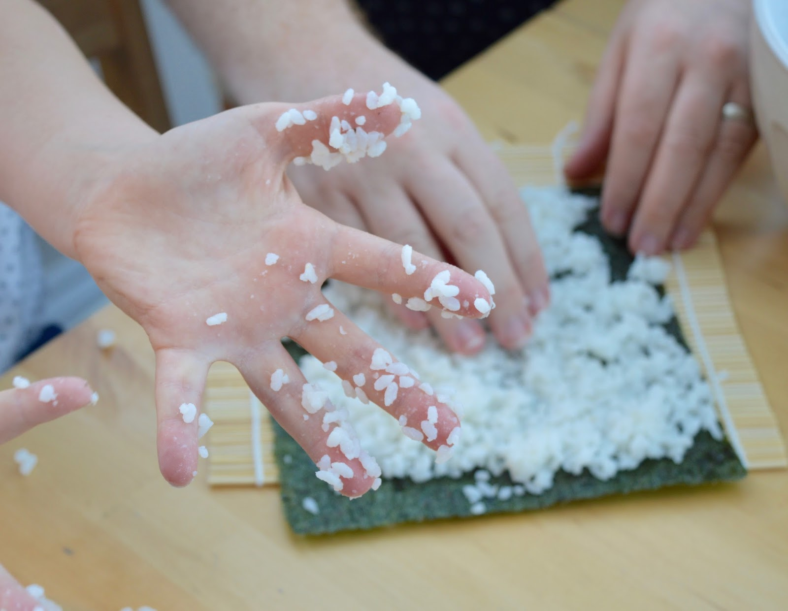 Sushi Making With Kids - A Tutorial for Beginners with Yutaka - sticky sushi rice
