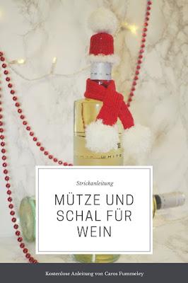 Strickanleitung für Mütze und Schal für Weinflasche von Bree Wein