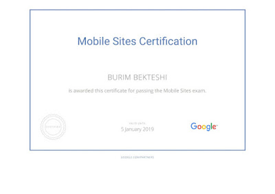 Mobile Sites Certification - Google Academy