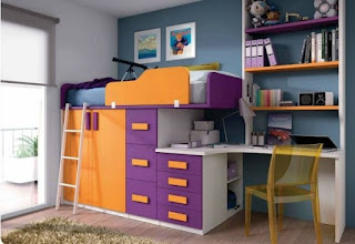 habitación moderna niño