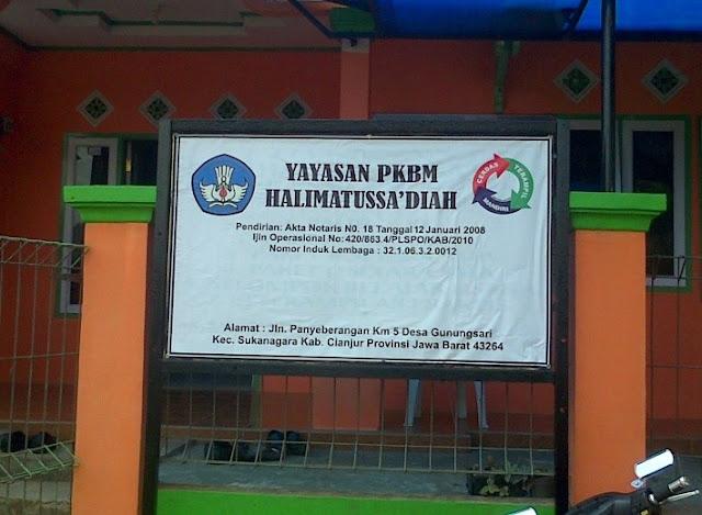 sanjurii Bersekolah Paket B dan C di Yayasan PKBM Halimatussa Yayasan PKBM Halimatussa'diah - Tempat Muhamad Ilyas Bersekolah Paket B dan C