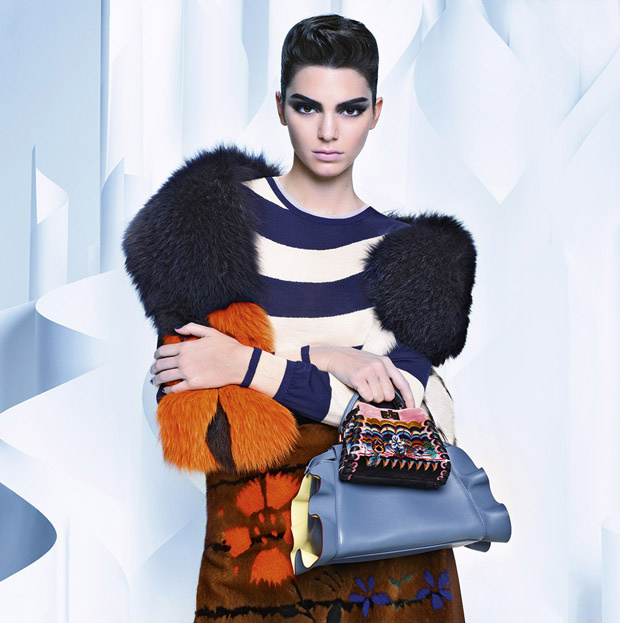Kendall Jenner for Fendi Fall Winter 2016.17 by Karl Lagerfeld