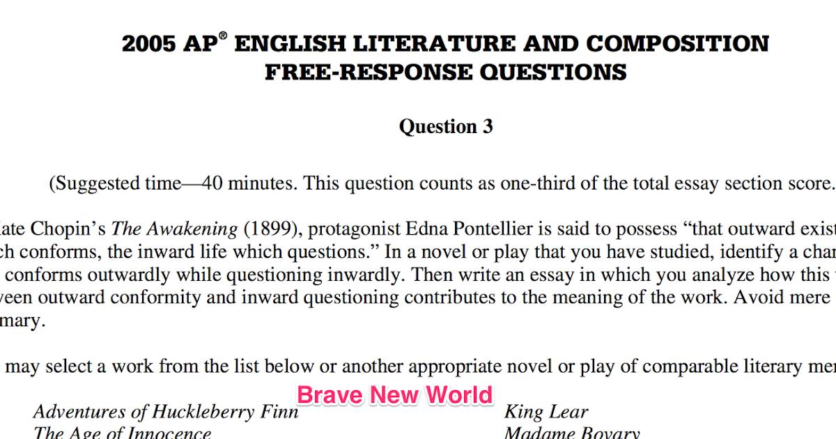 Dr  Preston's English Literature & Composition 2014-2015: brave new