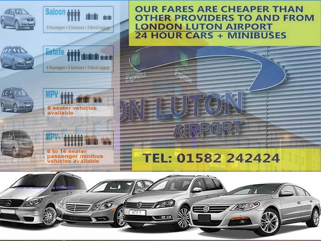 A1 24 Hour Luton Airport Transfer Minibus Cars