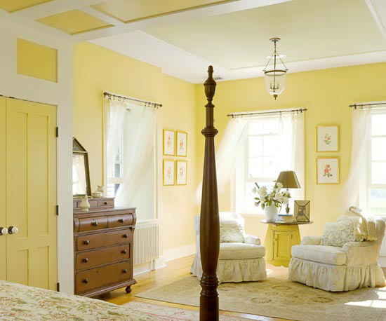 New Home Interior Design: Yellow Bedrooms I Love