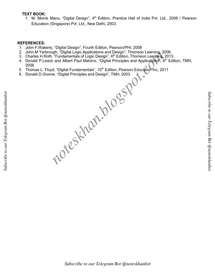Digital Electronics Notes For 3rd Sem Pdf